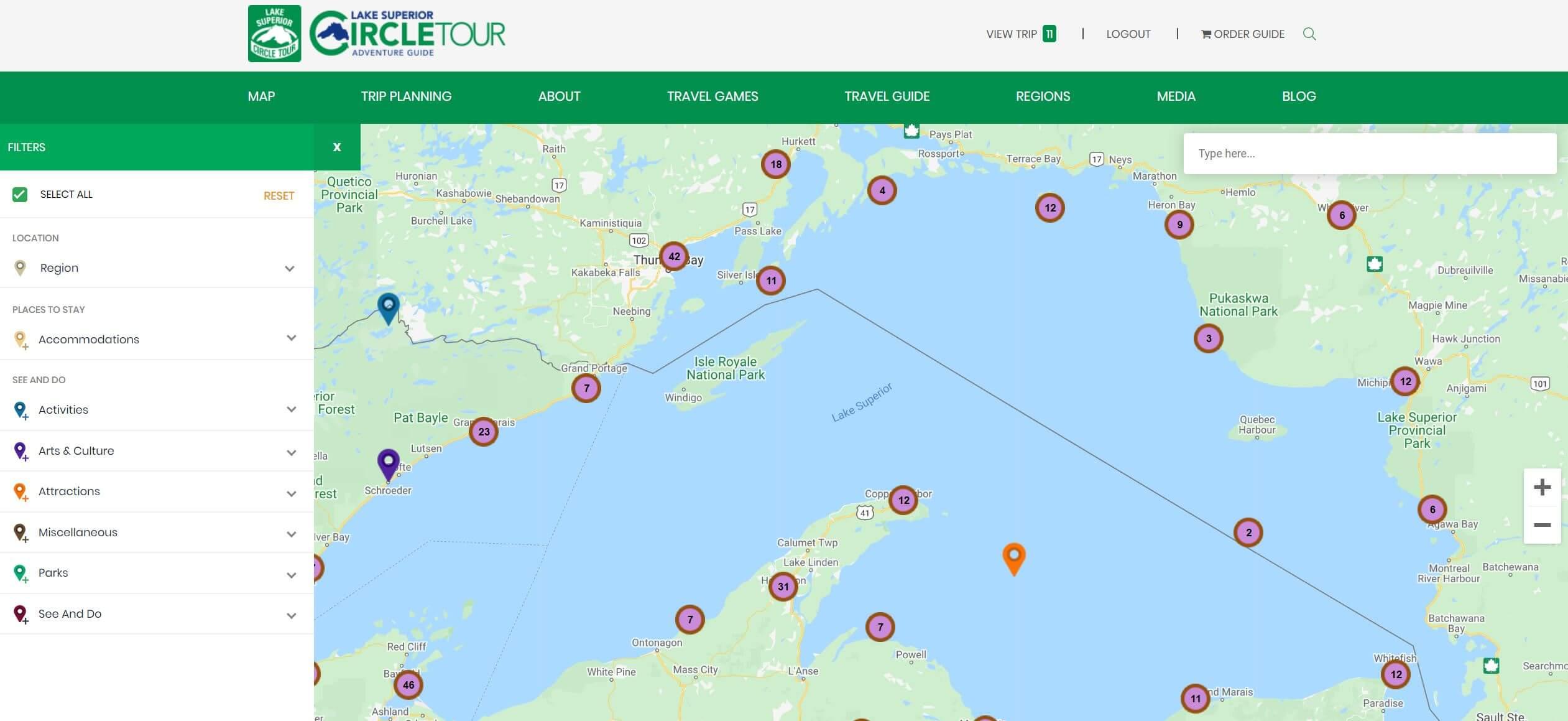Lake Superior Circle Tour Digital Map