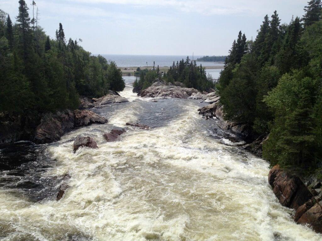 Lower Aguasabon Falls Lake Superior Waterfalls