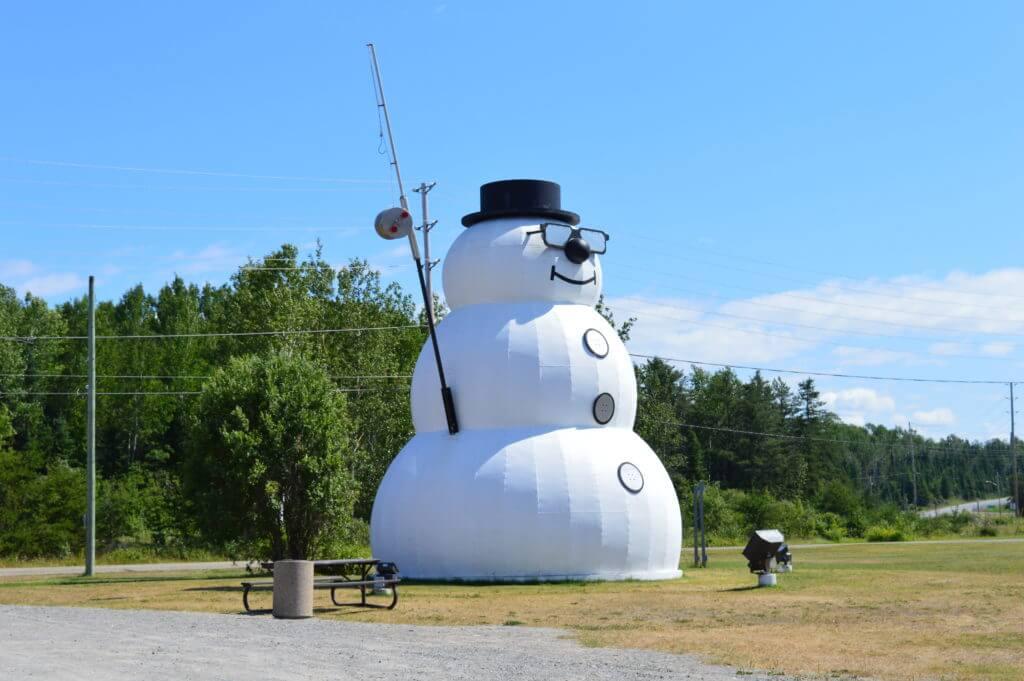 Lake Superior Roadside Attractions - Beardmore's Snowman