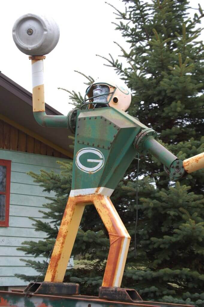 Lake Superior Roadside Attractions - Junk Football Player