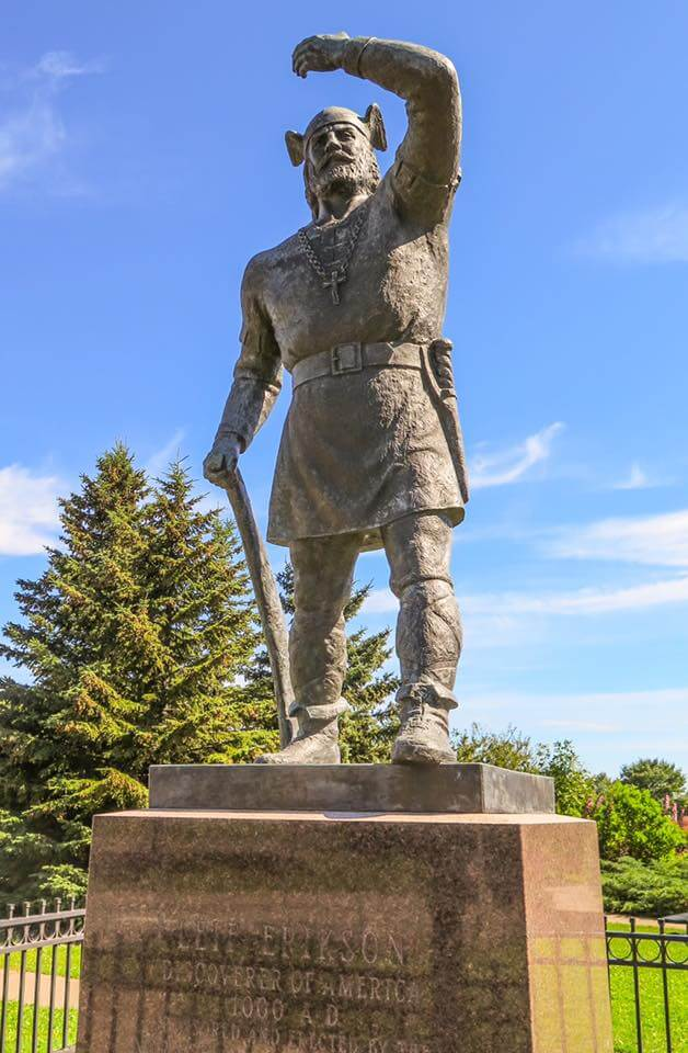 Lake Superior Roadside Attractions - Statue of Viking Leif Erikson