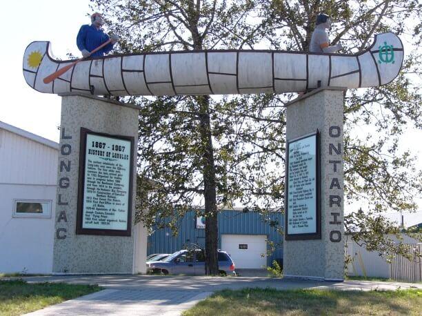 Lake Superior Roadside Attractions - Birchbark Canoe Monument