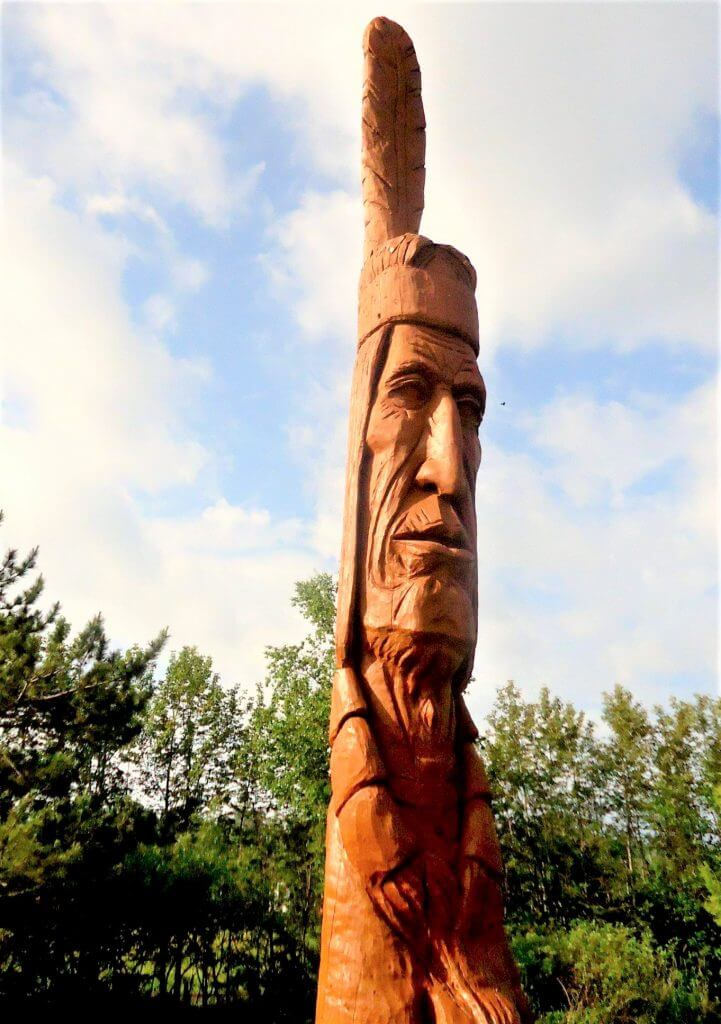 Lake Superior Roadside Attractions - Native American by Peter Toth