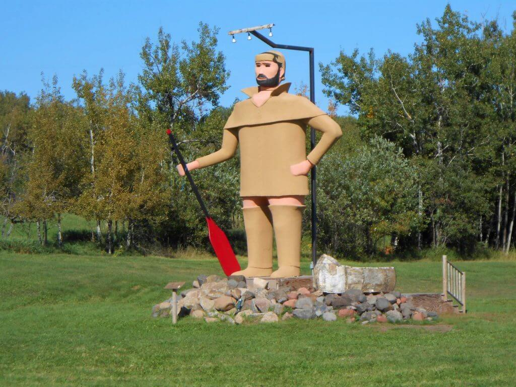 Lake Superior Roadside Attractions - Pierre the Voyageur