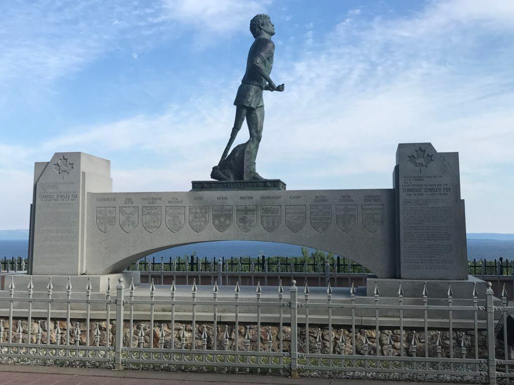 Lake Superior Roadside Attractions - Terry Fox Memorial Statue