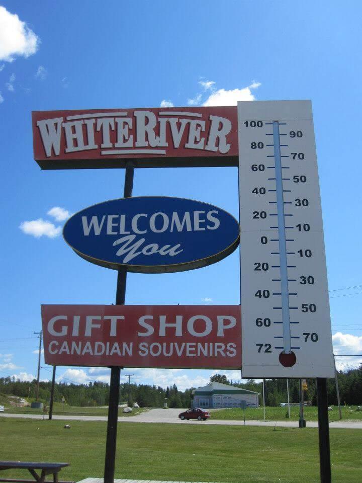 Lake Superior Roadside Attractions - White River Thermometer